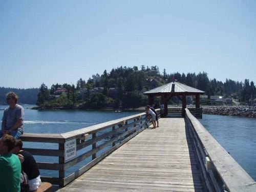 The breakwater boardwalk in Gibsons Landing